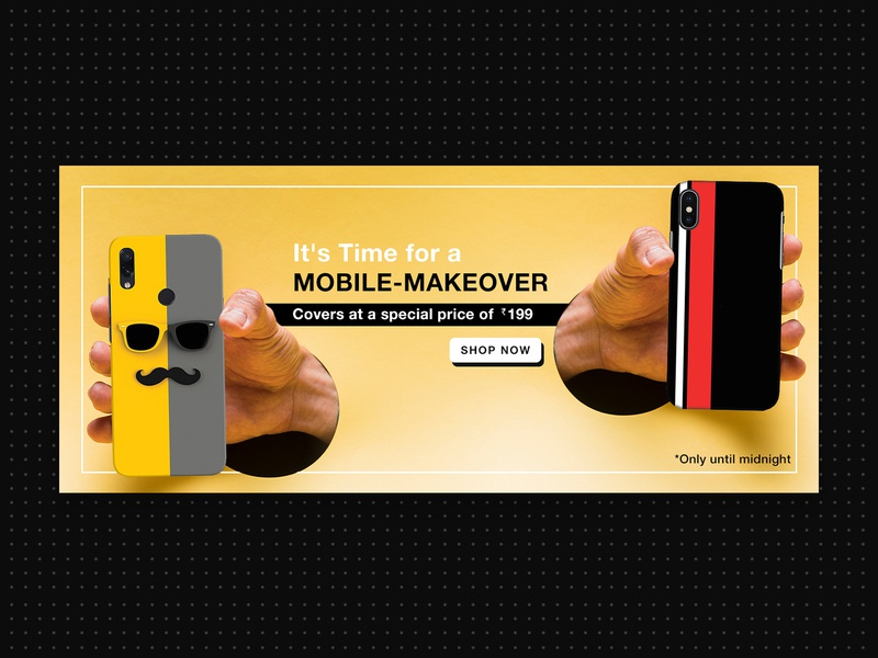 Mobile Cover - Banner Design buy shop ecommerce branding interface uiux web design art creative graphic design design layout banner cover app mobile photoshop