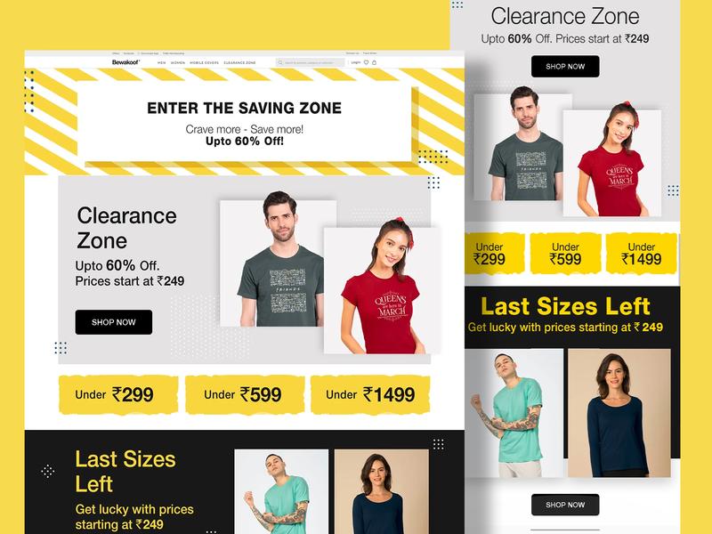 Landing Page - Saving Zone app photoshop banner clothes web landing interface ui design web design uiux branding fashion brand art graphic design clean ui landing page creative clean