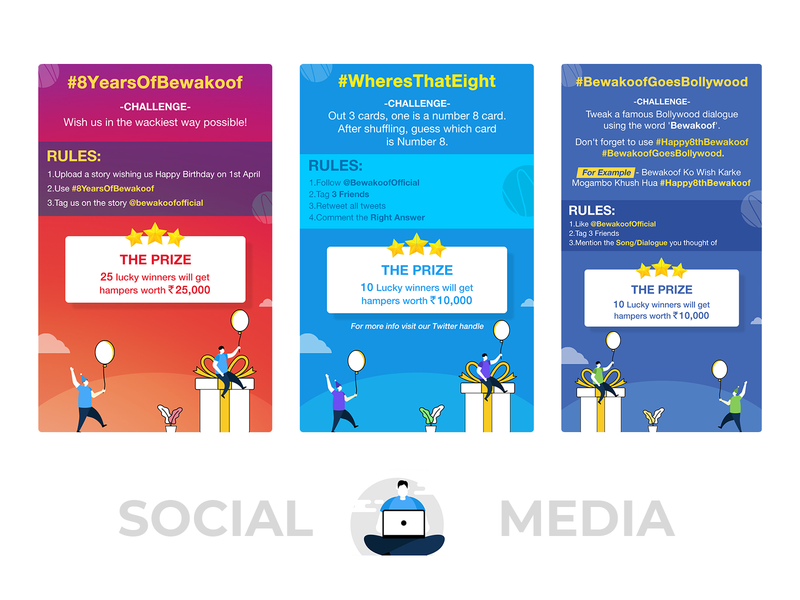 Social Media Contest Screens landing page photoshop creative illustration minimal simple clean layout graphic design ui design screen prize facebook twitter instagam social media