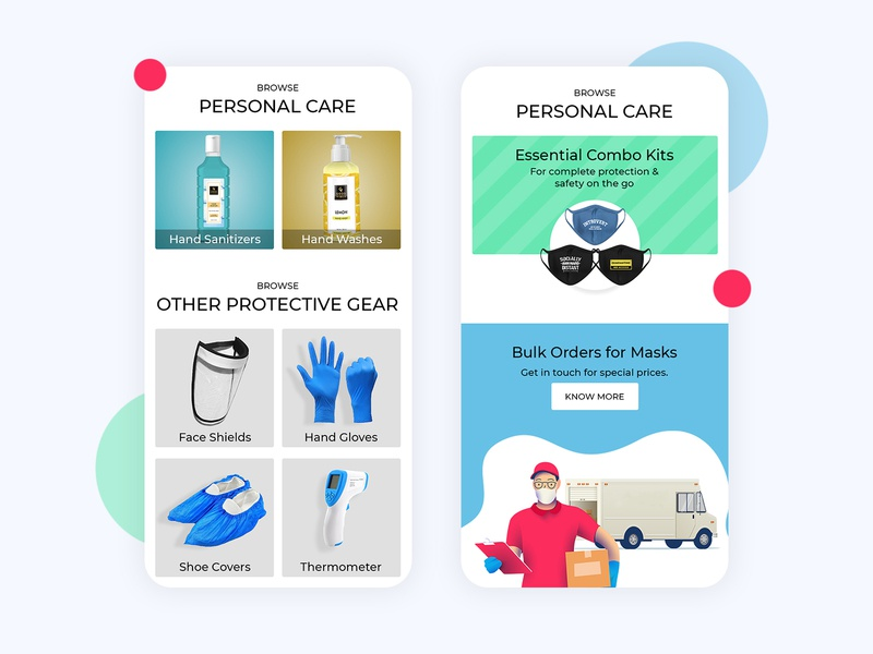 Essential Product Page homepage ux ui uiux webdesign website landing page landing graphic design design mask protective gear essential branding