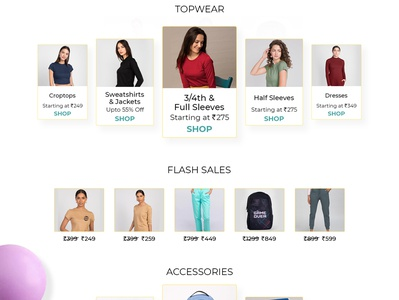Landing Page - Shopping colors minimal clean branding interface graphic design interaction homepage page landing webdesign web uiux ux ui