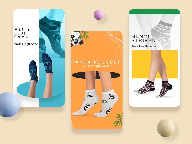 Instagram Templates #4 ecommerce website social media design instagram post instagram story instagram banner graphic design ui design branding footwear sock ads ad design