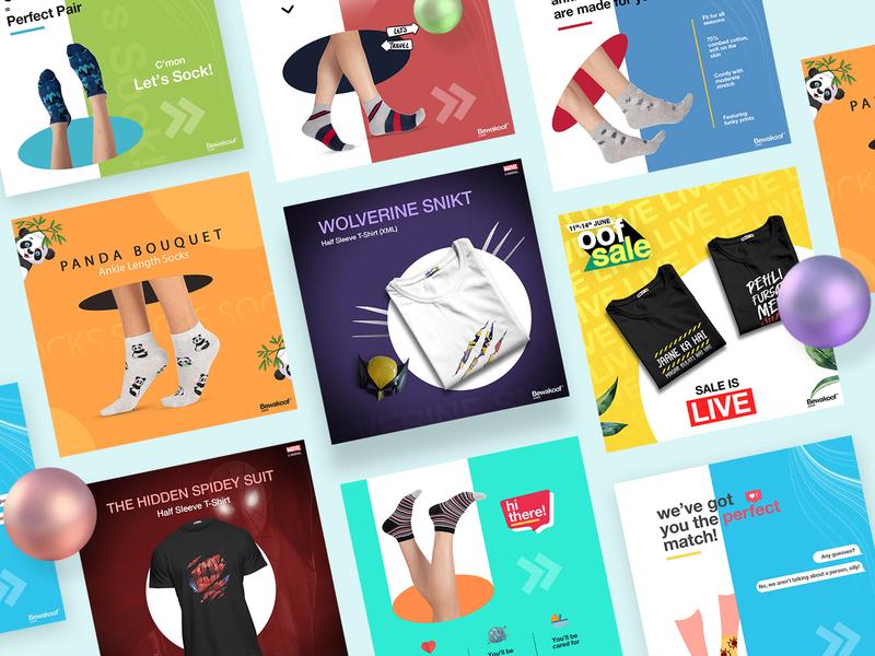 Social Media Banners branding web ui ui design typography portfolio minimal designer clean fashion product instagram banner social media ads design ads