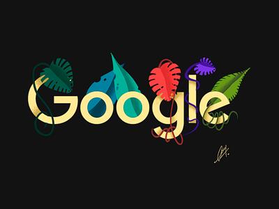 Google Plants Doodle✍️ designer logo web design uiux creative graphic designer digital illustration digital art plants sketch doodle art illustration google