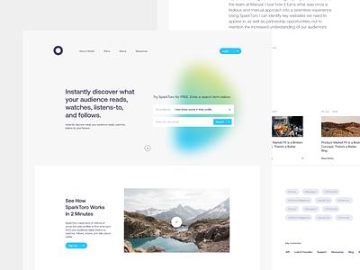 Website Redesign websites webdesign marketing data insights search saas technology page minimal design clean interface ux ui landing page design app web website landing page
