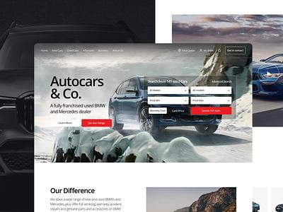 Used Cars Website pt.2 search web design mobile webdesign simple modern bmw brand vehicle cars page website minimal app web design clean interface ux ui