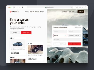 Used Cars Website pt.3 desktop simple cards landing ecommerce sales used car minimalist minimal mobile page website search web design clean interface ux ui
