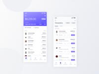 Financial Banking App Screens