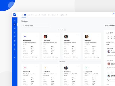 Healthcare Management Tool dash medical app saas medince medical healthcare patient health doctor dashboard app design clean interface web ux ui