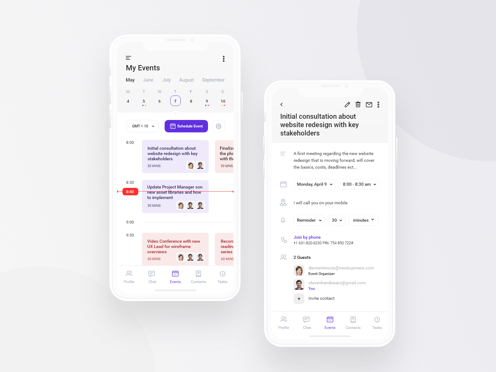 Scheduling App Concept | Search by Muzli