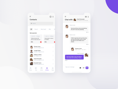 Scheduling App Concept pt2 schedule plan contact chat minimal event app activity managment calendar manage event iphone mobile ios app design clean interface ux ui