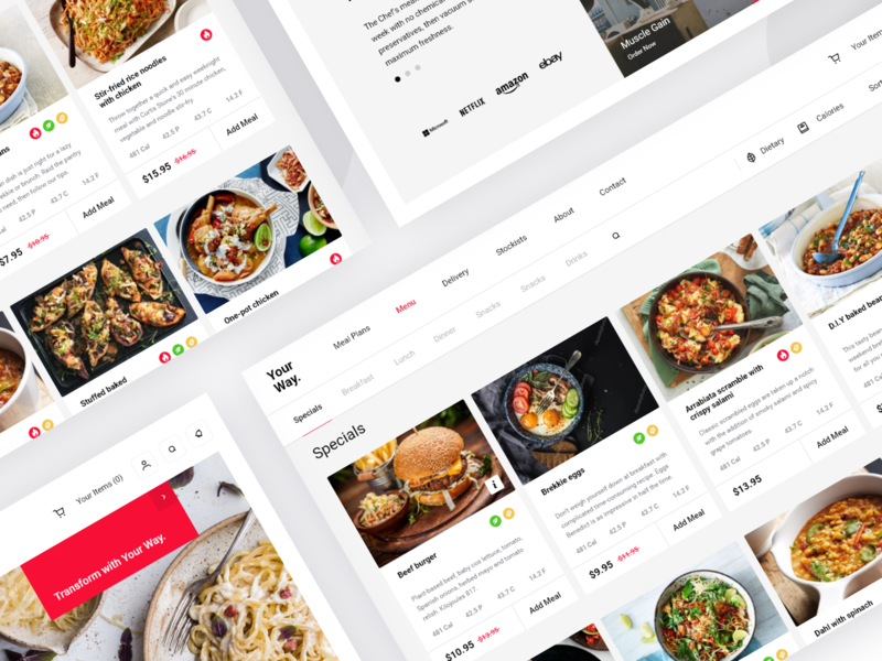 Food preparing service management plan orderig takeaway order food delivery meals food dash page minimal website dashboard app design clean interface web ux ui