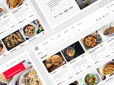 Food preparing service management plan orderig takeaway order food delivery meals food dash page minimal website dashboard app design clean interface web ux ui