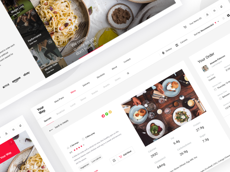 Food preparing service pt2 eating meals product health takeaway order food delivery food dash management minimal website dashboard app design clean interface web ux ui