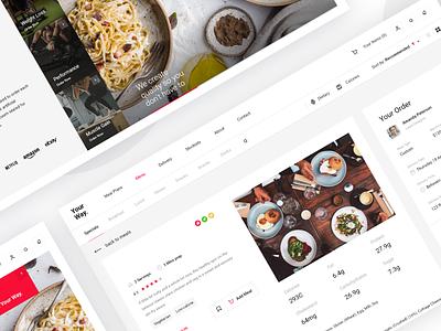Food preparing service pt2 eating meals product health takeaway order food delivery food dash management minimal website dashboard app design clean interface web ux ui