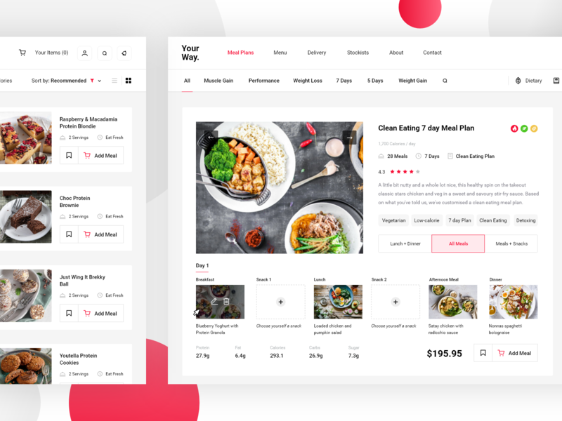 Food preparing service pt3 takeaway food delivery food delivery page order meals management search dash minimal website dashboard app design clean interface web ux ui