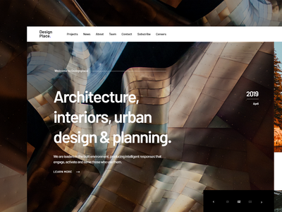 Architecture Website Concept interior design redesign interior concept building real estate residential architect architecture house page landing minimal website design clean interface web ux ui