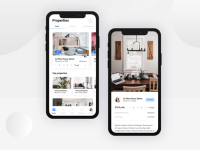 Real estate App Concept