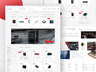 Music Store Product Search store design simple white instruments shopping buy store music app music search page landing minimal website design clean web interface ux ui