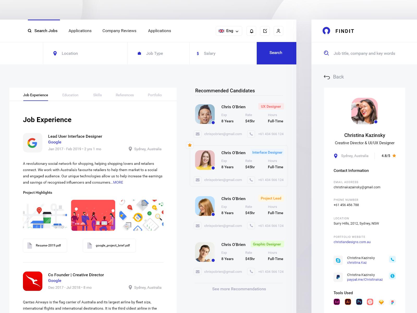 Job Application Process Dashboard pt3 by Monty Hayton | Design