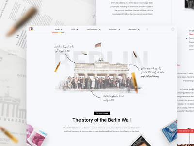 Cold War History Website page web design landing page minimal design clean ux ui concept website web ussr russia usa education learn history war cold coldwar