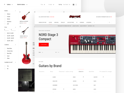 Guitar Factory Website Design pt2