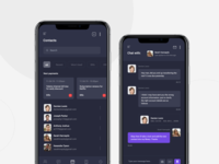 Scheduling App Screens - Dark UI pt2