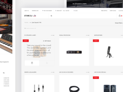 Music Store Landing Page v3