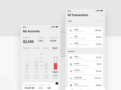 Bank App Concep pt.2