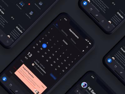 Health Service App Dark UI