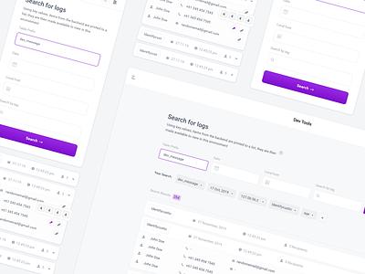 Developer Tools interface minimal development dev code tool web uiux user interface clean ui search modules input tech email desktop design dashboard clean button