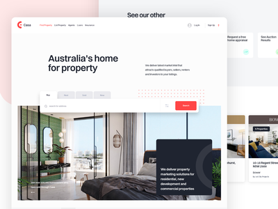 Property Portal Concept simple concept web page web design real estate home house property realestate page website search minimal app web design clean interface ux ui