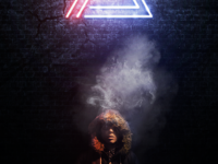 smoking under neon
