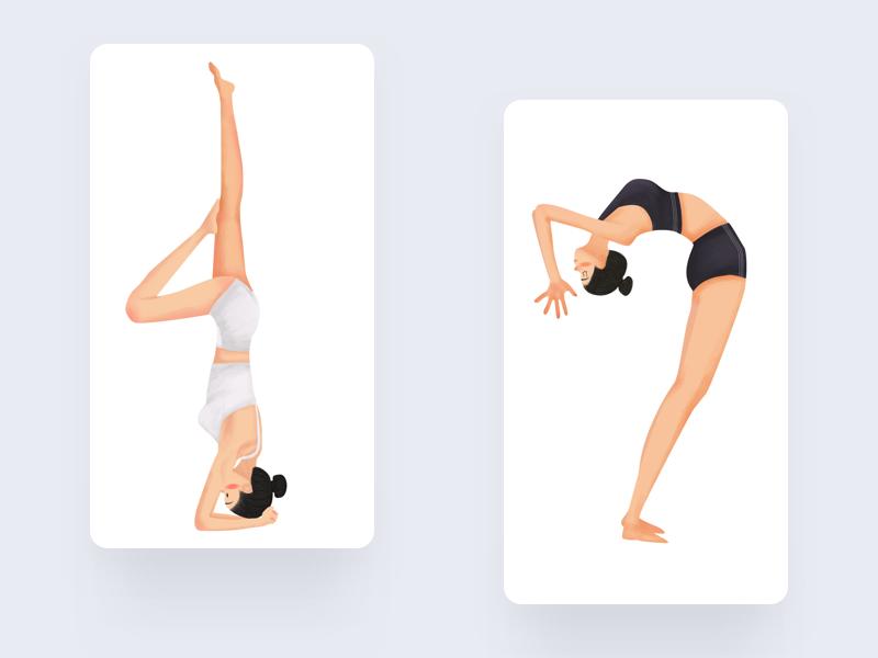 Yoga1 design illustration
