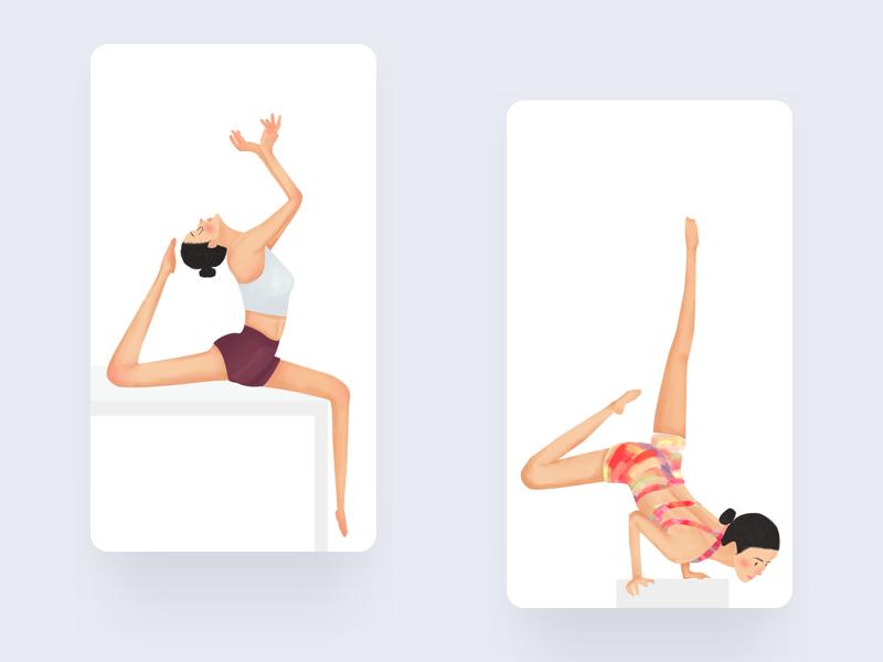 Yoga3 design animation illustration