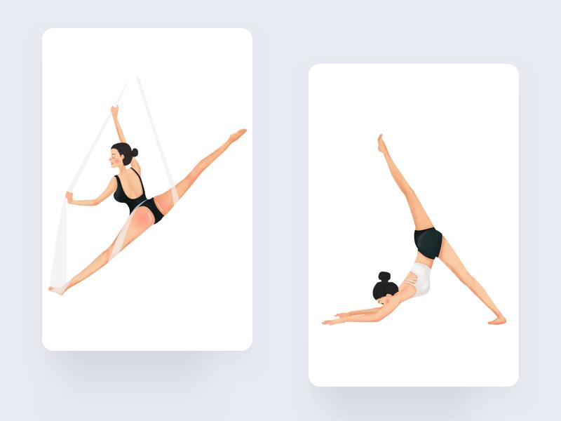 Yoga4 design illustration