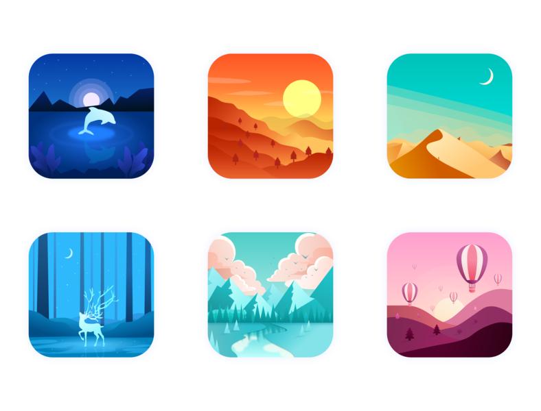 scenery illustration design