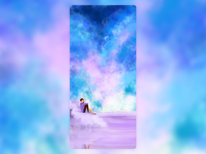 overflow with clouds scud across space design illustration
