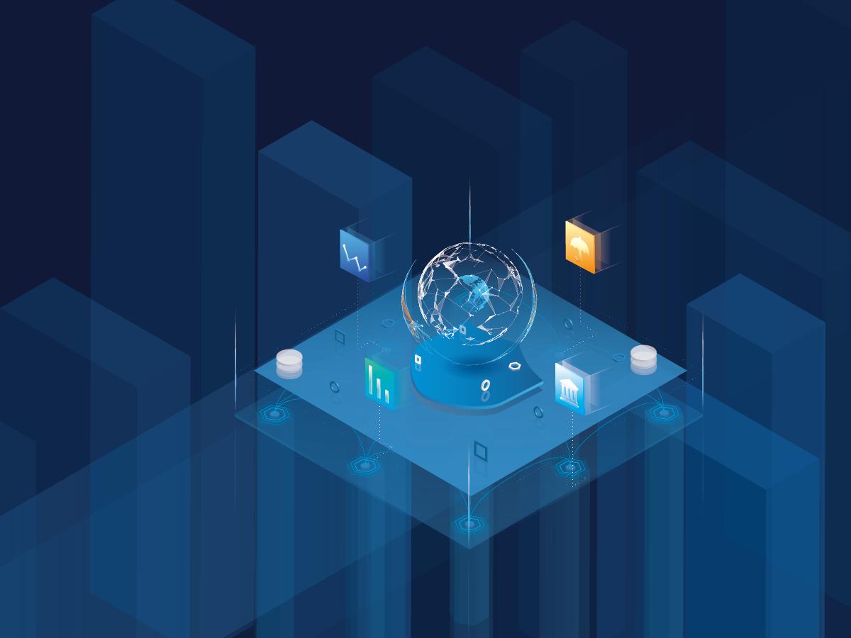 Tech 2.5d illustration design