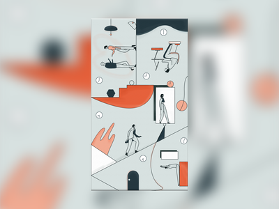 one day of me illustration design