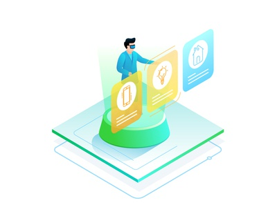 Isometric Illustrations for Fastcash professional animation illustration what a story illustrator finance cash bill payment clean futuristic isometric illustration isometric design isometric