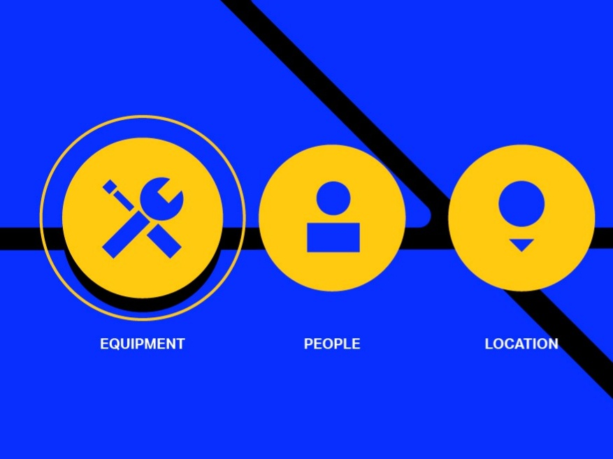 Basic Icons - Basic Shapes modern cleaning simple location people equipment clean minimal yellow blue basics basic shapes flat icons