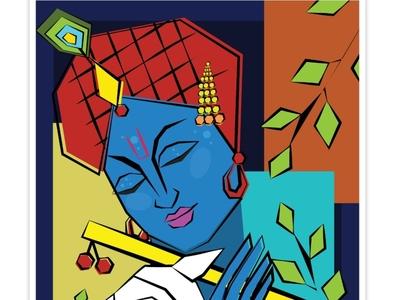 Happy Krishna Janmashtmi 2019 graphic design creative design creativity animations illustration illustrator animation celebrations hinduism festival creative krishna krishna janmastami lord krishna janmashtami