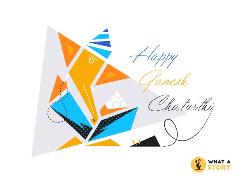 Happy Ganesh Chaturthi 2019 celebration graphic graphic design ganesh chaturthi creativity creative festival lord ganesh creative art creative design design what a story illustration animation