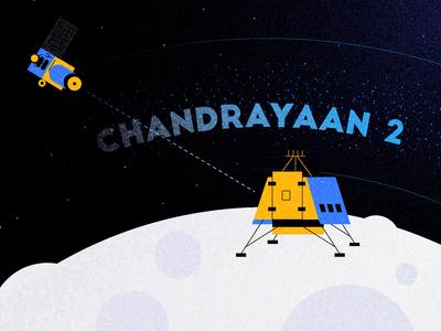 Chandrayaan-2 Mission To Moon (Illustration)