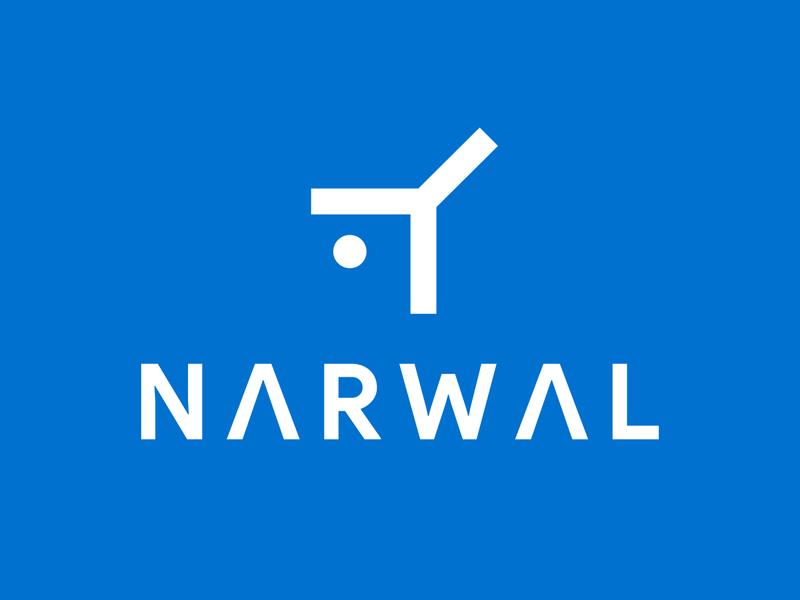 Visual Branding for an IT company Narwal it logo code logo minimal abstract simple logo abstract logo best branding best logo minimal fish logo narwhale logodesign