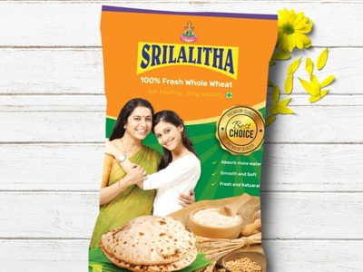 Srilalitha Wheat Flour Package Design  By What a Story package design branding design branding corporate design corporate startup professional design creative design creative illustraion what a story product packaging packaging design packaging package