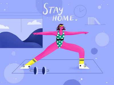 Stay home illustration covid-19 procreate vector graphics draw design illustration