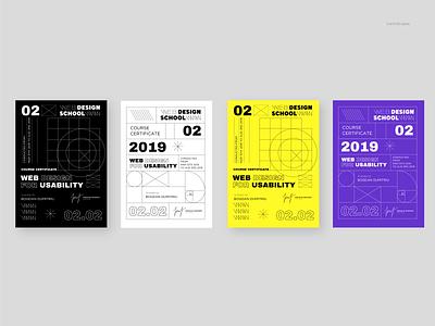 Web design school - identity concept minimal typography icons logo identity branding brand graphics design illustration