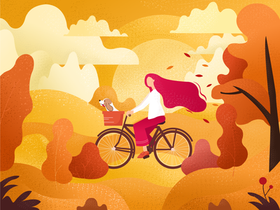 Autumn gradient ux ui vector graphics draw identity brand design illustration